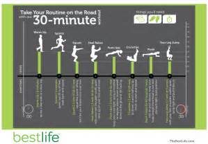 30 minute at home workout take your routine on the road 30 minute workout