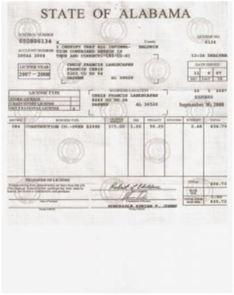 Alabama Marriage License Records Business License