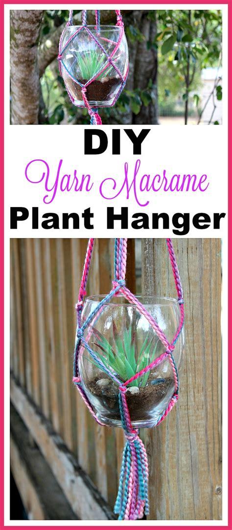 Make Your Own Macrame Plant Hanger - yarn macrame plant hanger makes a great diy gift