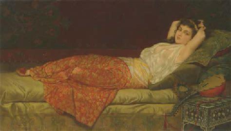reclining odalisque vincent g stiepevich russian american 1841 1910 a