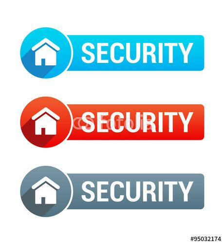 quot home security banner quot stock image and royalty free vector