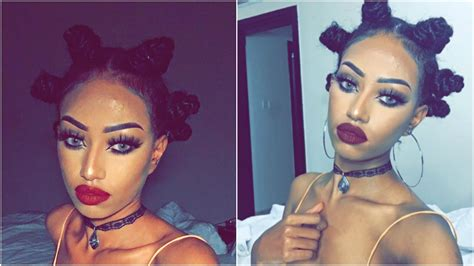 best hair tutorial on instagram instagram quot baddie quot makeup and hair bantu knouts tutorial