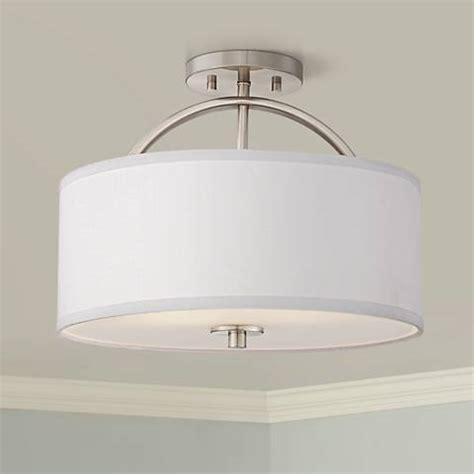 nickel semi flush ceiling lights halsted brushed nickel semi flush 15 quot wide ceiling light