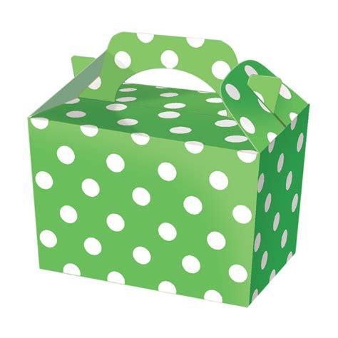 Polkadot Box 10 polka dot boxes choose from 6 colours food lunch cardboard spotty g ebay