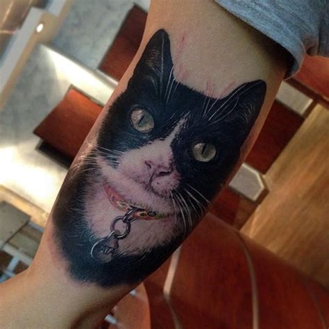 black and white cat tattoo black white cat best design ideas