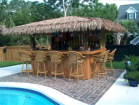 Backyard Tiki Bar Ideas by These Cozy Patio Tiki Hut Bars Ideas Will Accomplish Your