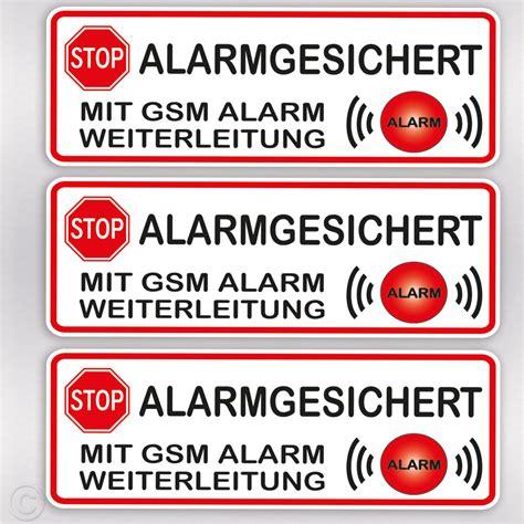 Aufkleber Auto Alarmgesichert by Aufkleber Alarmgesichert Mit Gsm Alarm Hinweis F 252 R Haus