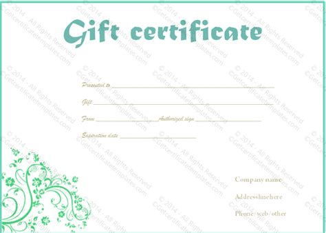 Celebration Of Card Template by Celebration Swirls Gift Certificate Template