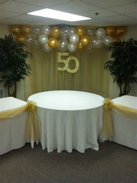 50th Wedding Anniversary Balloon Swag  also notice the