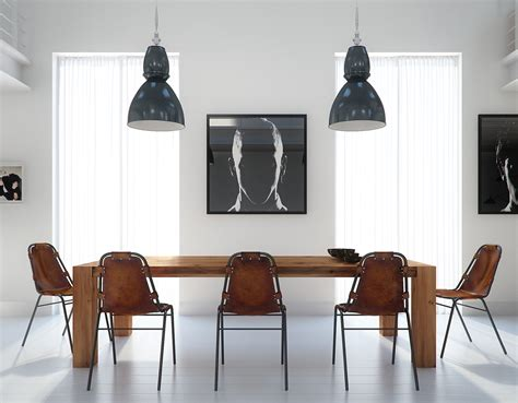 modern dining table interior design two beautiful lofts visualized