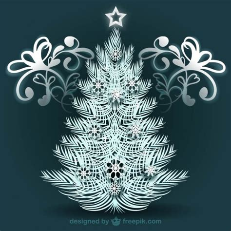 white christmas tree with ornaments vector free download