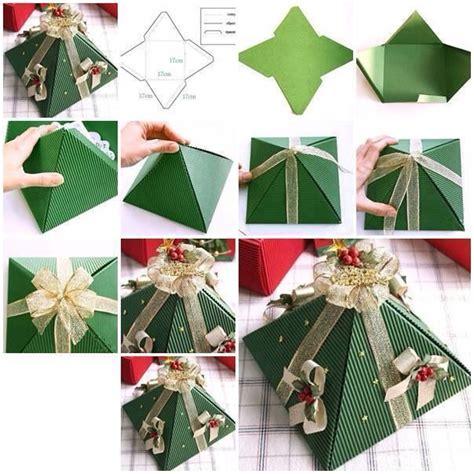 diy christmas tree gift box christmas pinterest
