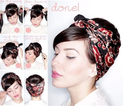 different ways to wear a bandana with short hair learn 20 cool ways to wear a headscarf this summer ritely