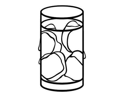 coloring page glass of water glass of water with ice coloring pages