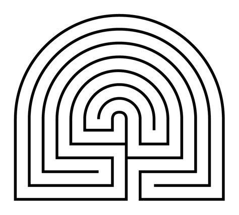 Labyrinth Outline by File Caerdroia Labyrinth Diagram Png Wikimedia Commons