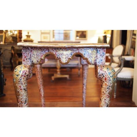 excellent faux marble late baroque style console table
