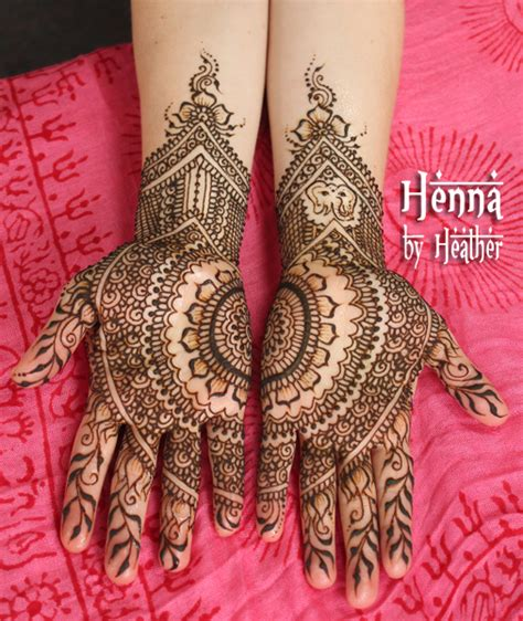 Wedding Henna by Modern Indian Bridal Henna With Mandala And Ganesh Henna