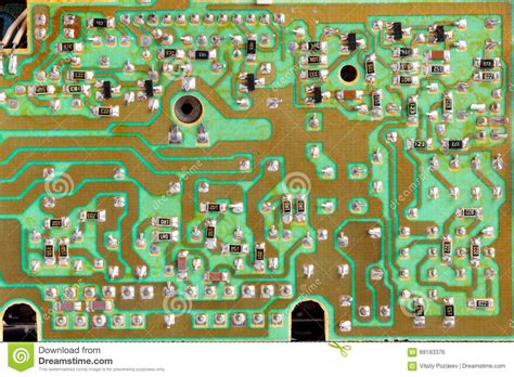 integrated circuit are used in integrated circuit chip cir green pcb up stock photo image 69183376