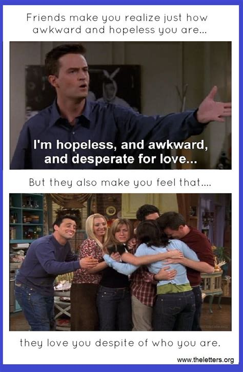 friends tv show friendship quotes http theletters org