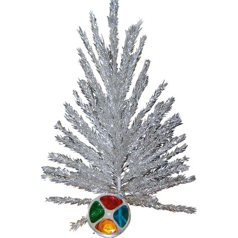 vintage aluminum christmas tree and color wheel original