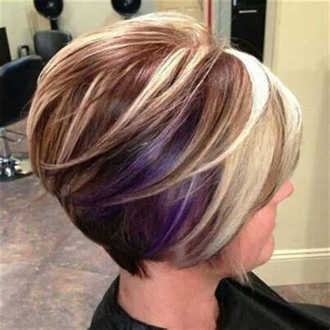 high and low highlights on short hair cute short cut highlights and lowlights hair pinterest