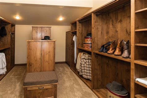 Western Closet by Water Tower Inspired Home Master Closet Rustic Closet