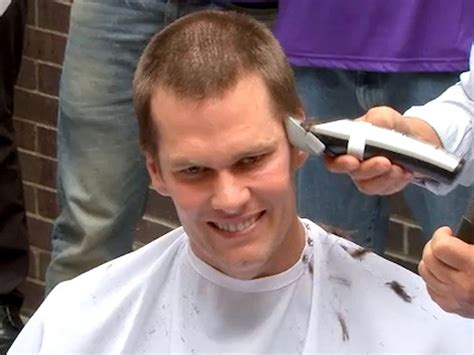 shaves head for cancer tom brady shaves head raises millions for cancer research