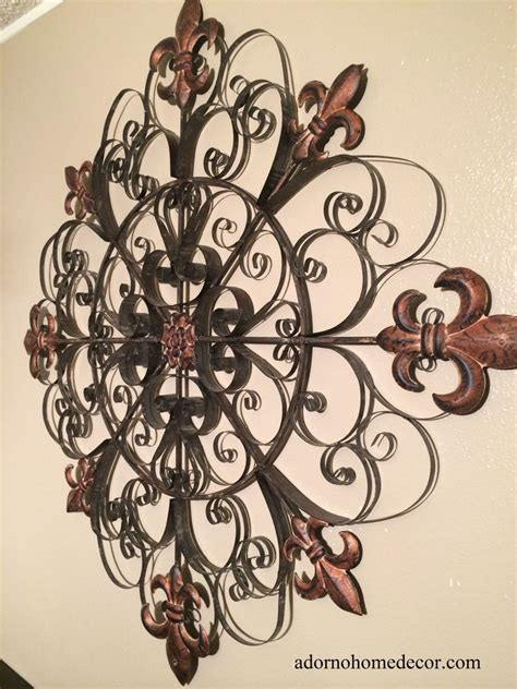 large unique fleur de lis metal wall rustic scroll decor antique vintage ebay