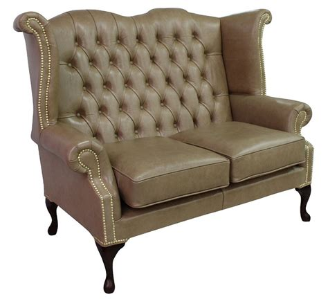High Back Wing Sofa by Parchment Chesterfield 2 Seater High Back Wing Sofa