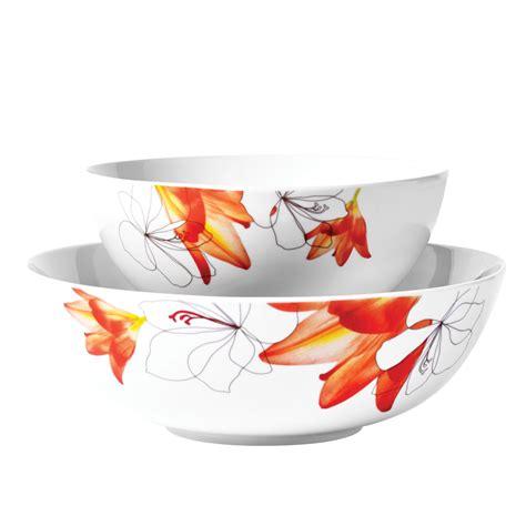 Kidie Bowl 2pc tabletops unlimited 2 pc serving bowls shop your