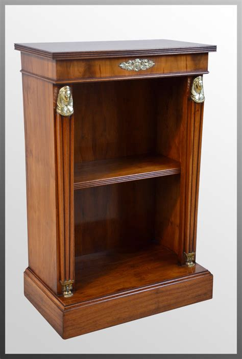 antiques atlas yew small open bookcase empire library