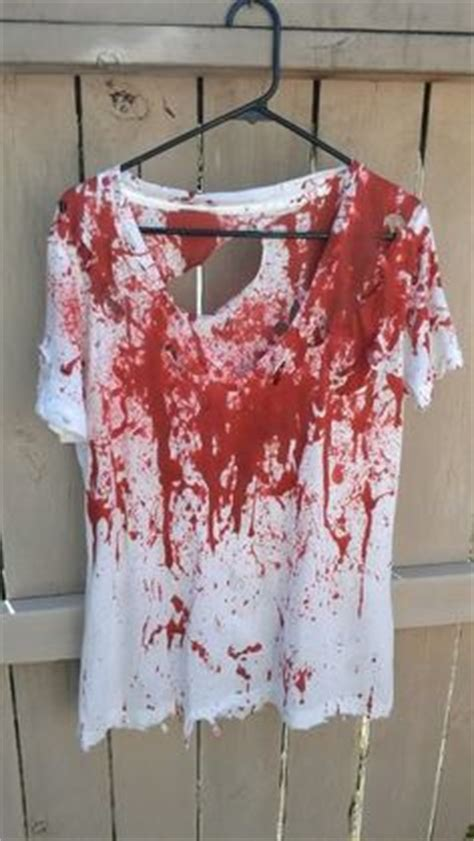 zombie shirt tutorial adult costumes on pinterest zombie costumes fake blood