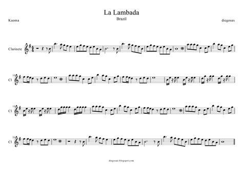 lambada testo diegosax la lambada de kaoma partitura de flauta viol 237 n