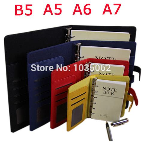 Diary A6 Spiral Whenzhang 21150 01 aliexpress buy functional a7 a6 a5 b5 business handmade leather notebook lined spiral