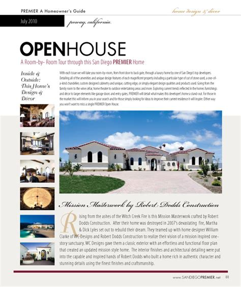 open house ad advertising san diego premier