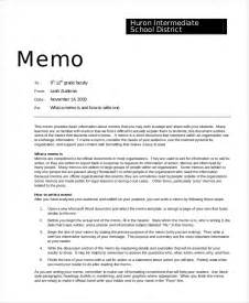How To Write A Memo Template by 11 Memo Templates Free Sle Exle Format Free