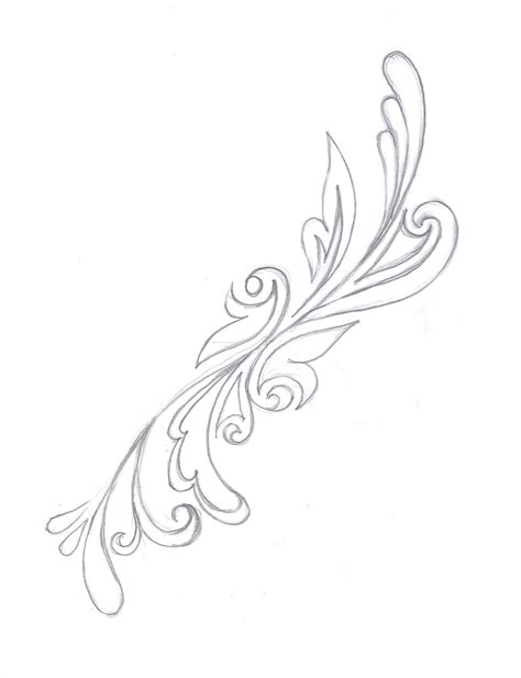 swirl tattoo designs back