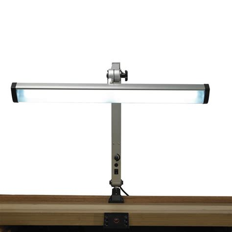 led work bench light extra wide silver finish jewelers led task l