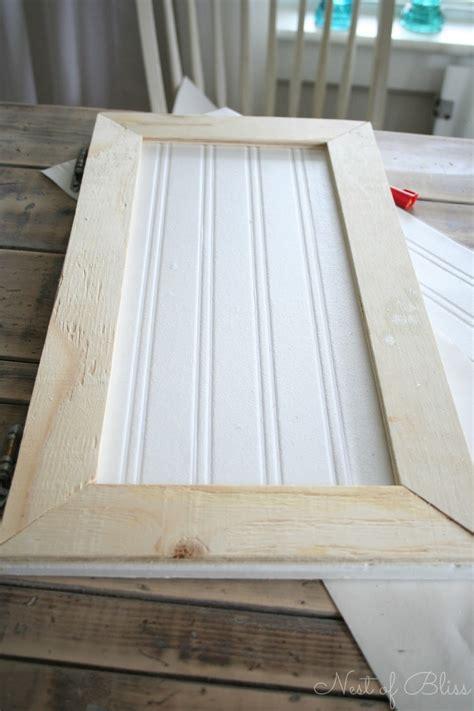Make Beadboard Cabinet Doors Diy Beadboard Wallpaper Cabinets Nest Of Bliss