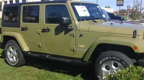commando green jeep 2013 jeep wrangler unlimited sahara commando green