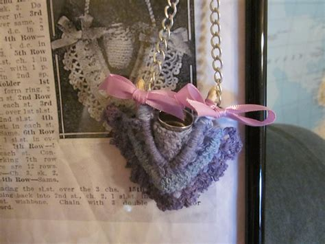 pattern for thimble holder wishbones for luck and a crocheted sewing kit