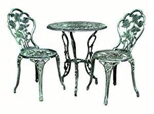 Cast Iron Bistro Table And Chairs Bistro Set Of Table And 2 Chairs Antique Cast Iron Garden Furniture Green Co Uk