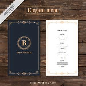 menu chic restaurant de mod 232 le t 233 l 233 charger des vecteurs