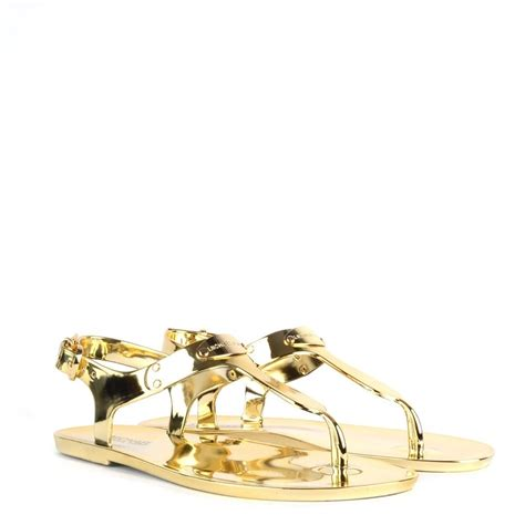 gold jelly sandals michael by michael kors mk gold logo plate jelly sandal