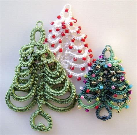 christmas tree tatting pattern layered ring christmas tree in tatting by marilee rockley