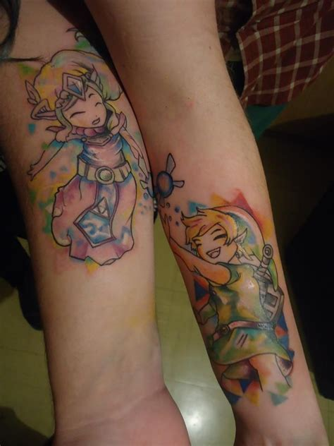 zelda couple tattoos 20 awesome matching tattoos only couples would get