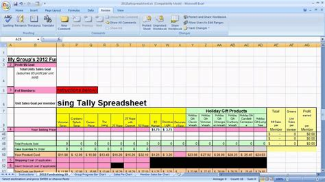 tally spreadsheet tutorial youtube
