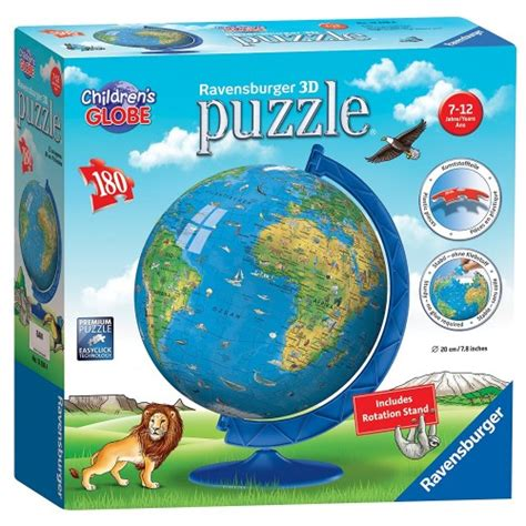 Kigumi World Globe 3d Puzzle children s world globe 180 pc 3d puzzle educational toys