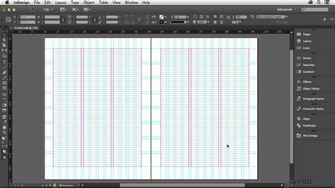 indesign grid template indesign tutorial setting up your baseline grid lynda