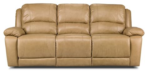 genuine leather reclining sofa marco genuine leather reclining sofa toffee the brick